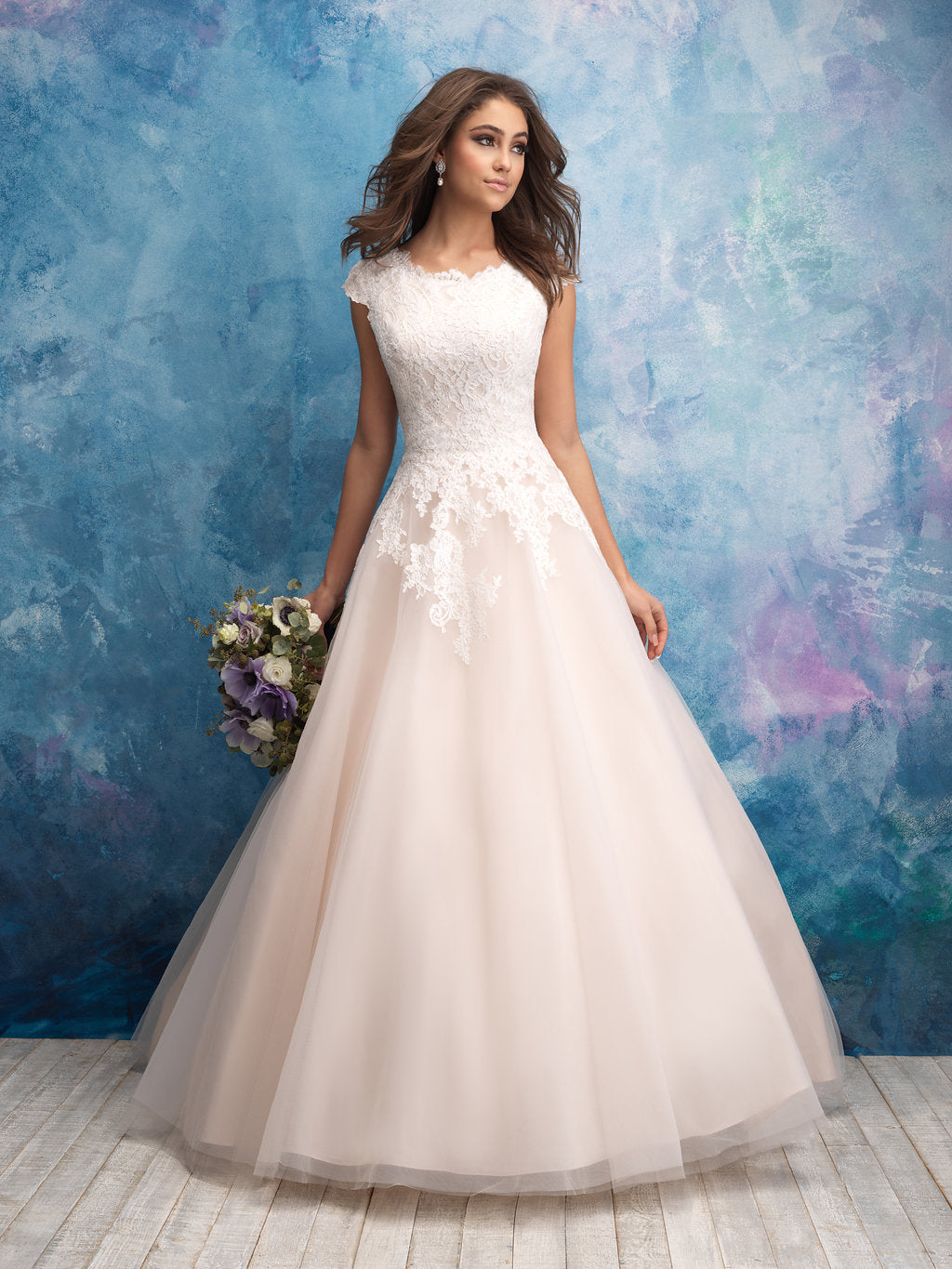 Allure M601 Modest Wedding Dress from A Closet Full of Dresses