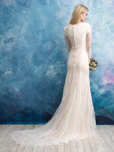 Load image into Gallery viewer, Allure M602 Modest Wedding Dress back view from A Closet Full of Dresses