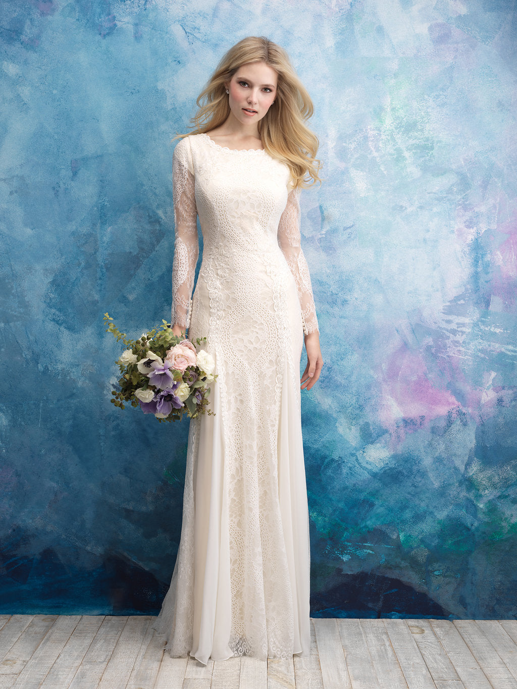 Allure M602 Modest Wedding Dress from A Closet Full of Dresses