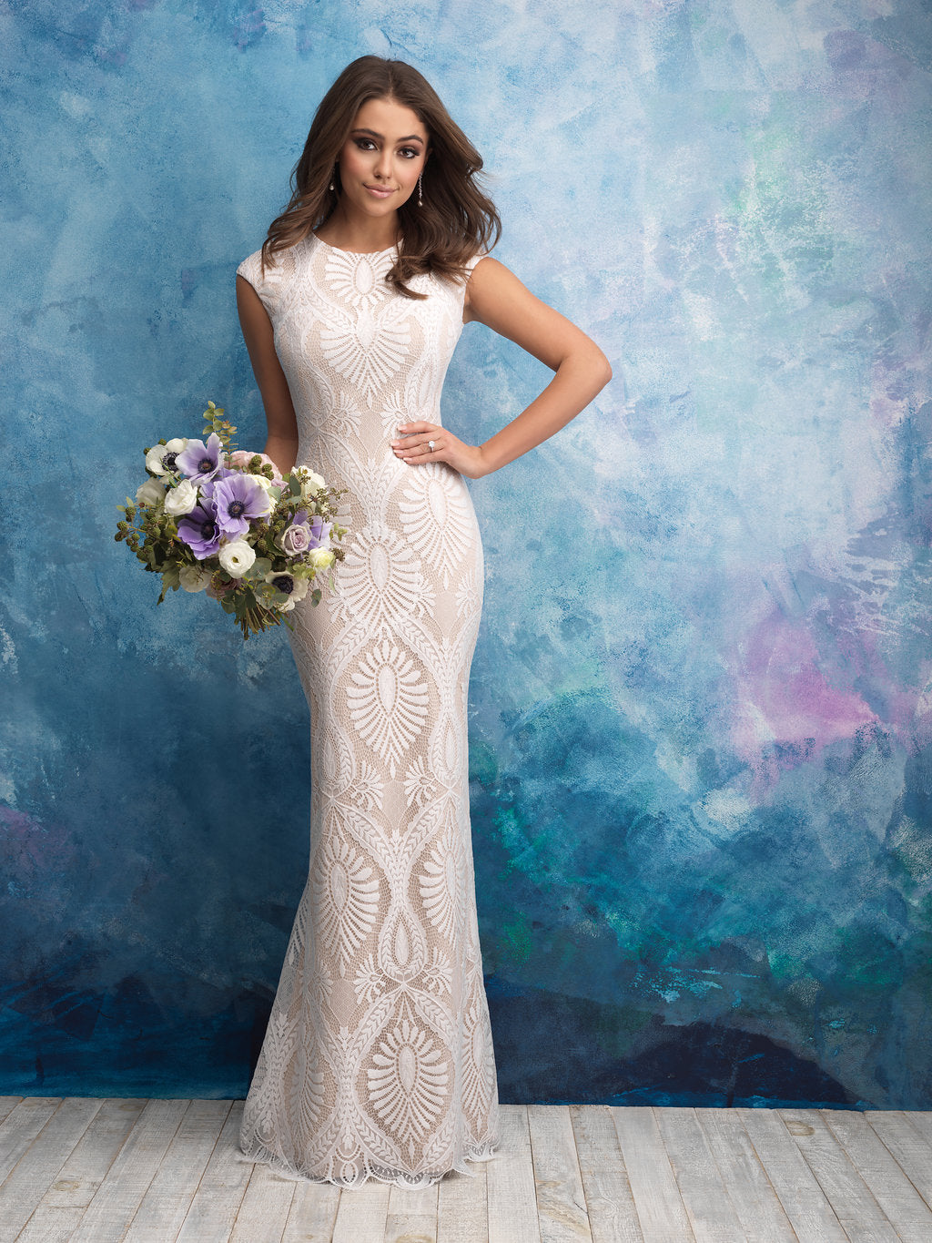 Allure M604 Modest Wedding Dress