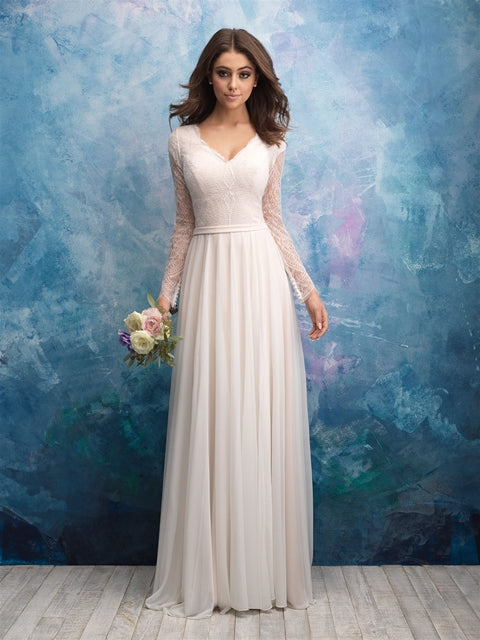 Allure M605 Modest Wedding Dress
