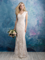 Allure M606 Modest Wedding Dress from A Closet Full of Dresses