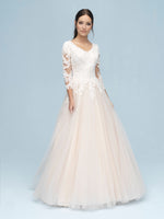 Allure M611 Modest Wedding Dress from A Closet Full of Dresses