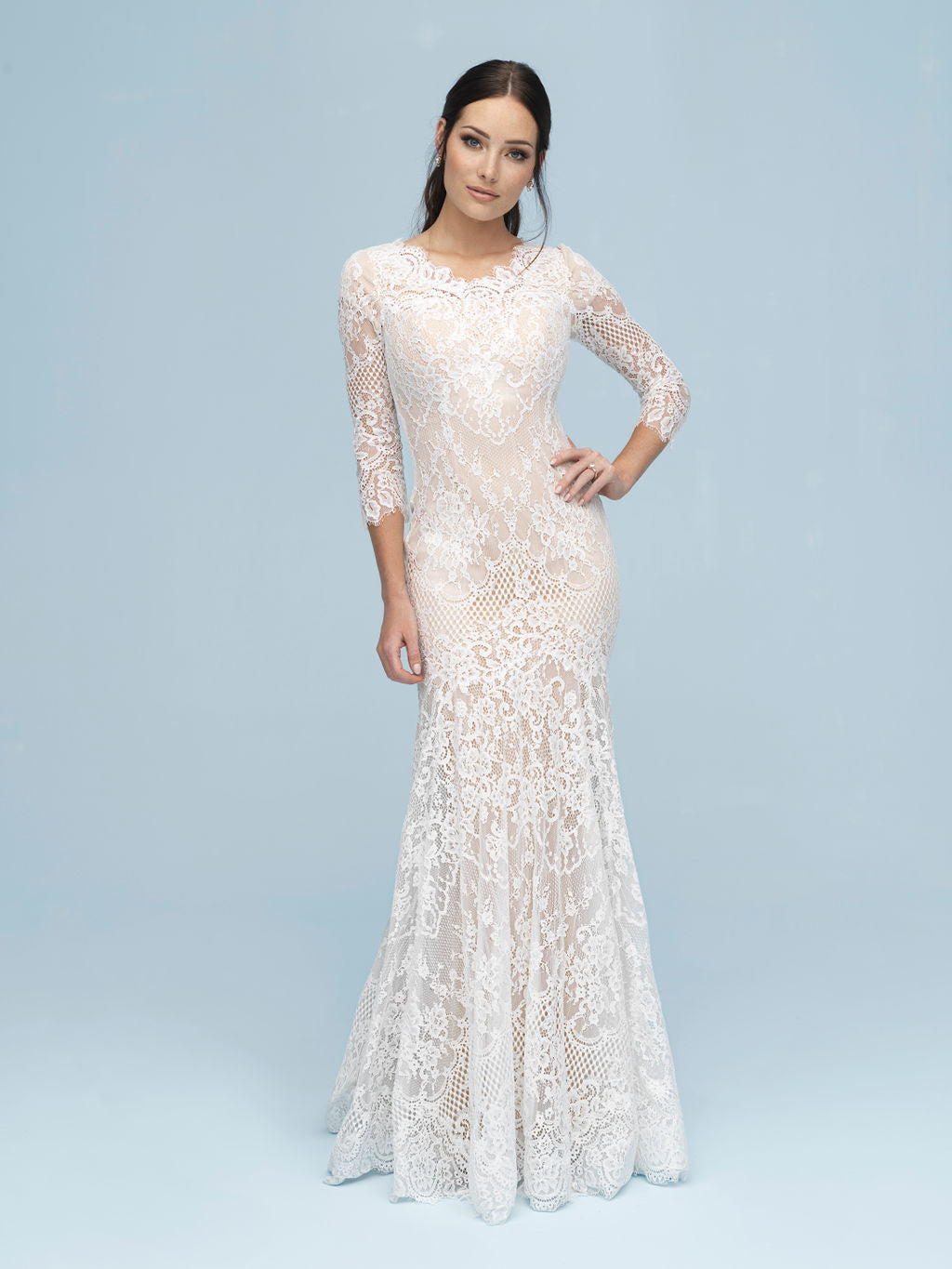 Allure M615 Modest Wedding Dress from A Closet Full of Dresses
