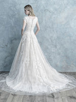 Allure M625 Modest Wedding Dresses for plus size ball gown bridal gown for LDS cheap