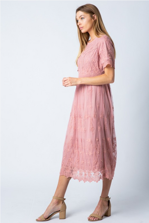 Maizie Modest Midi Dress Side from A Closet Full of Dresses