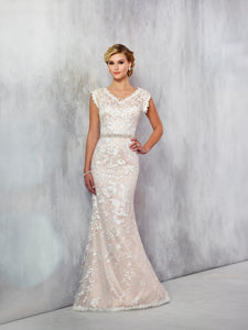 Mon Cheri TR21724 Modest Wedding Dress at A Closet Full of Dresses