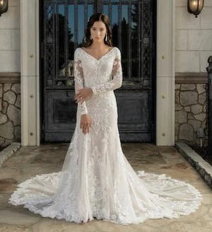 T2081Z Modest Wedding Dress from A Closet Full of Dresses Private Label