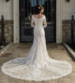 T2081Z Modest Wedding Dress back from A Closet Full of Dresses Private Label