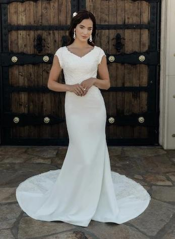 Private Label T2082Z Modest Wedding Dress from A Closet Full of Dresses