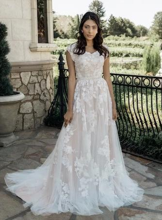 Private Label T2084Z Modest Wedding Dress from A Closet Full of Dresses