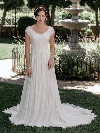 T2095Z Modest Wedding Dress from A Closet Full of Dresses Private Label