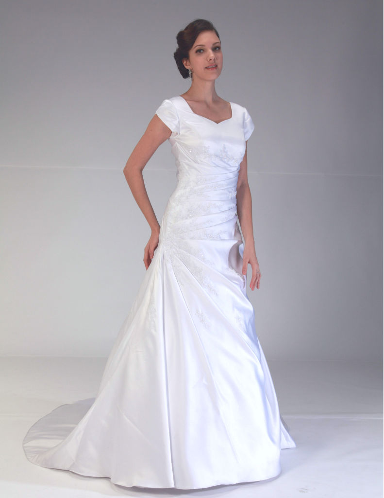 Venus Bridal TB7644 Modest Wedding Dress from A Closet Full of Dresses