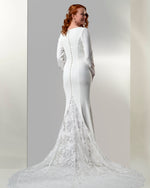 Venus Bridal TB7766 Modest Wedding Dress back from A Closet Full of Dresses