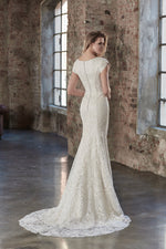 Venus Bridal TB7780 Modest Wedding Dress back from A Closet Full of Dresses