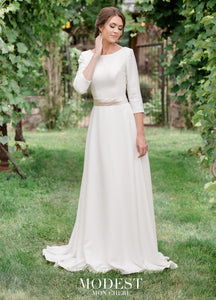 Mon Cheri TR11971 Modest Wedding Dress from A Closet Full of Dresses