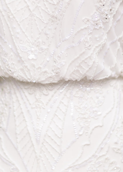 Mon Cheri TR11974 Modest Wedding Dress lace from A Closet Full of Dresses