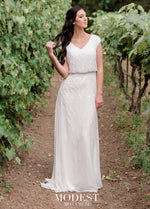 Mon Cheri TR11974 Modest Wedding Dress from A Closet Full of Dresses