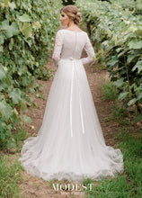 Load image into Gallery viewer, Mon Cheri TR11976 Modest Wedding Dress back from A Closet Full of Dresses