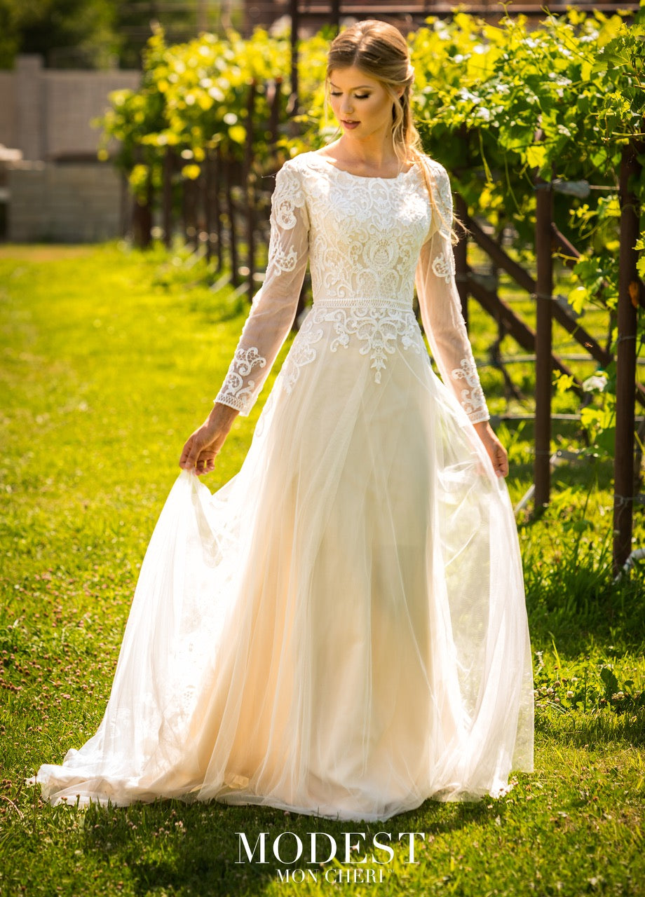 Mon Cheri TR11979 Modest Wedding Dress