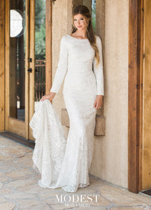 Mon Cheri TR11987 Modest Wedding Dress from A Closet Full of Dresses