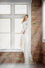 Mon Cheri TR21902 Modest Wedding Dress train from A Closet Full of Dresses