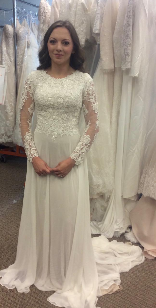 Mia Solano T1882Z Modest Wedding Dress