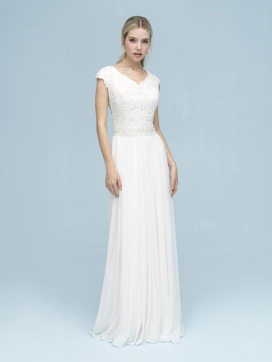 new images of sale online available Allure M613 Modest Wedding Dress