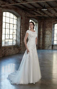 Venus Bridal TB7781 Modest Wedding Dress from A Closet Full of Dresses