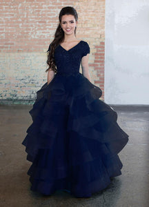 Ellie Wilde Modest Navy 118193 Prom/Formal Gown back from A Closet Full of Dresses