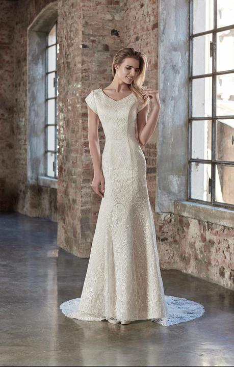 Venus Bridal TB7780 Modest Wedding Dress from A Closet Full of Dresses