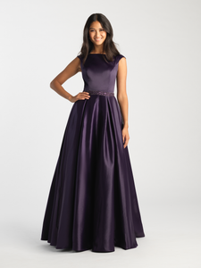 MJ 20-506M Purple Modest Prom Dress Ball Gown for plus size LDS formal