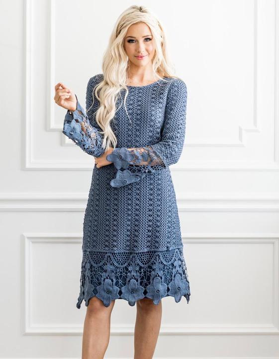 Lydia Boho Dress Cornflower from A Closet Full of Dresses
