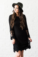 Lydia Boho Dress Black from A Closet Full of Dresses