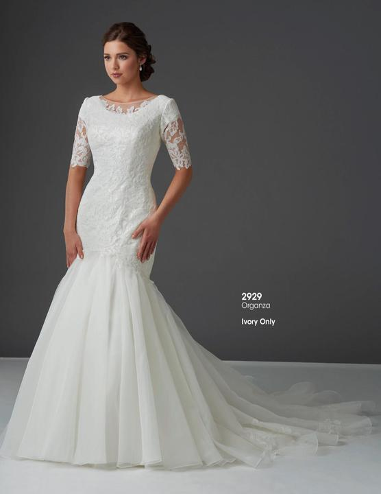 Bonny Bridal 2929 Modest Wedding Dress from A Closet Full of Dresses