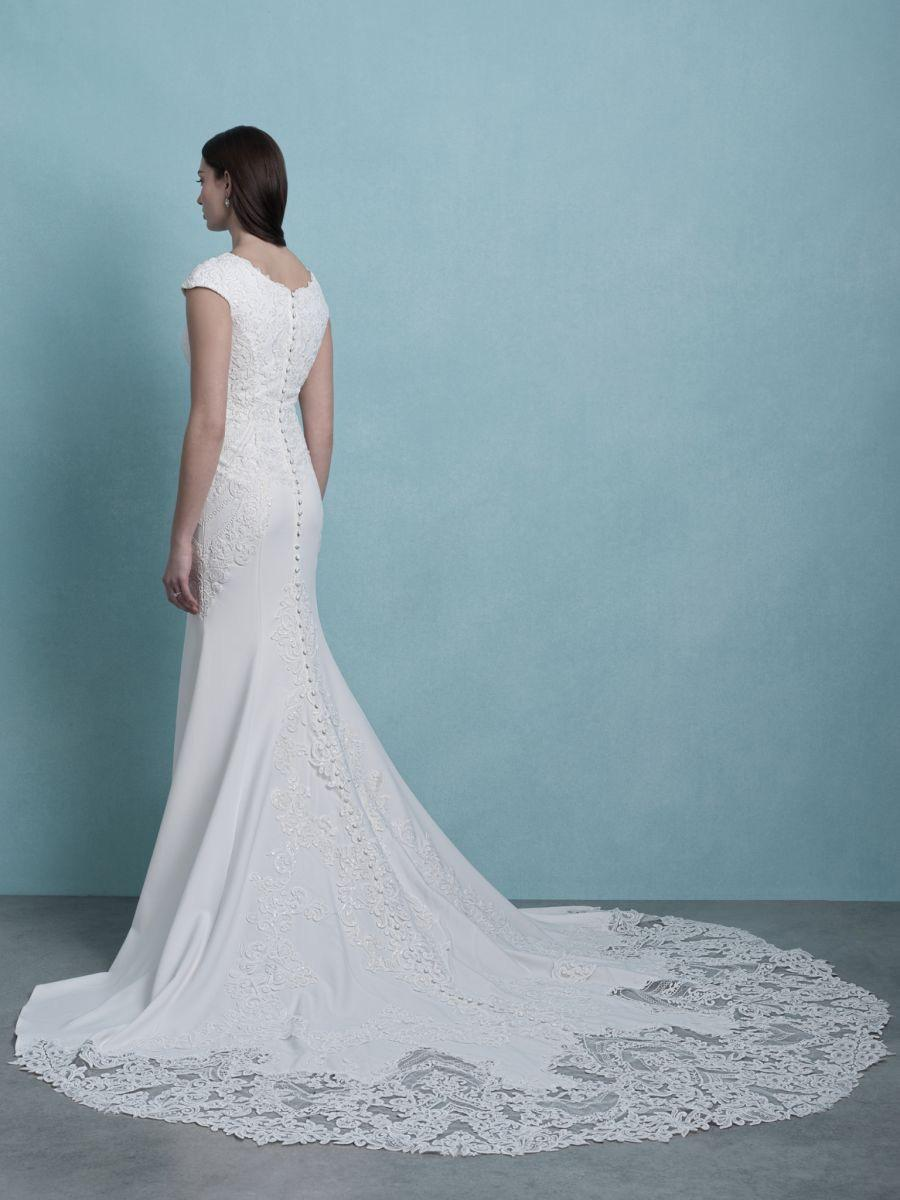 Allure M655 Modest Wedding Dress