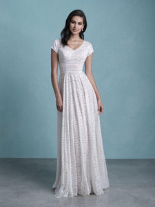 Allure M650 Modest Wedding Dress