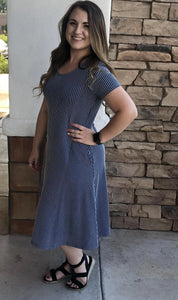 Jenny Blue Stripe Swing Dress from A Closet Full of Dresses