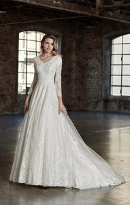 Venus Bridal TB7783 Modest Wedding Dress from A Closet Full of Dresses