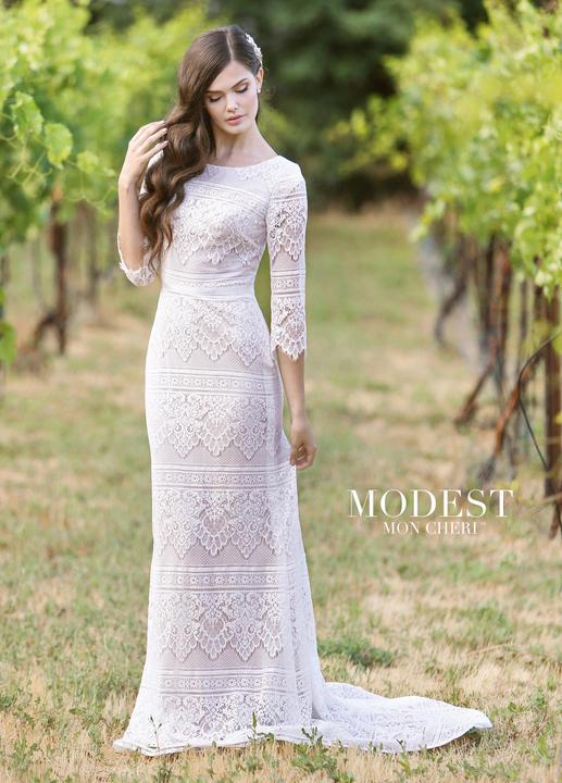 Mon Cheri TR11840 Modest Wedding Dress from A Closet Full of Dresses