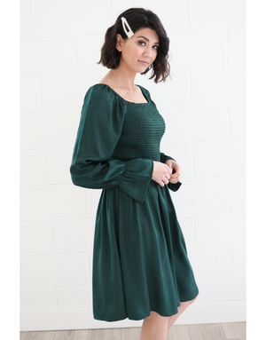 Juliet Frosted Emerald Smocked Dress
