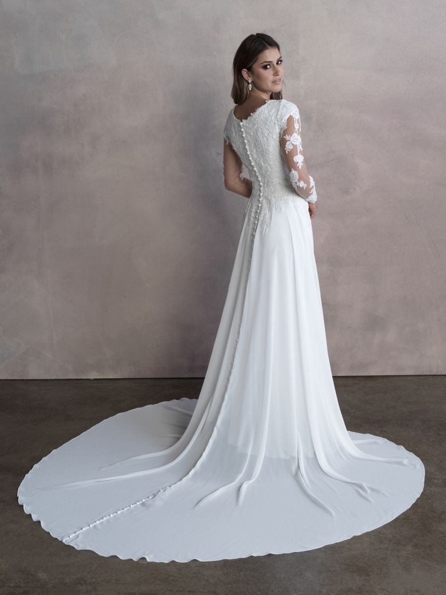 M663 Modest Wedding Dress
