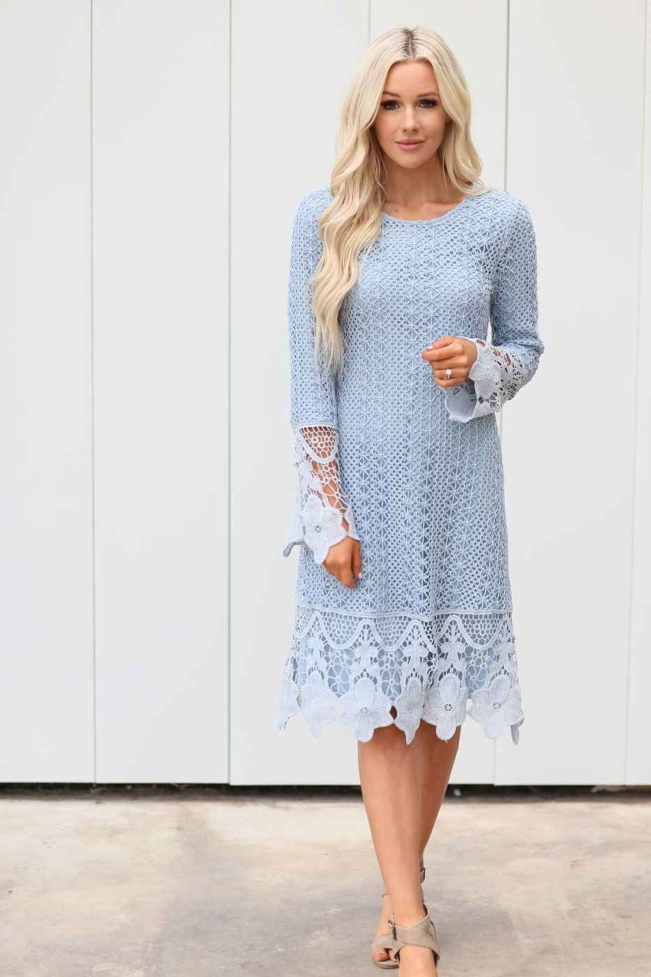 Lydia Boho Dress Light Blue from A Closet Full of Dresses