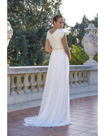 Venus Bridal TB7759 Modest Wedding Dress Back from A Closet Full of Dresses