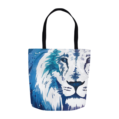 Blue Lion Tote Bag