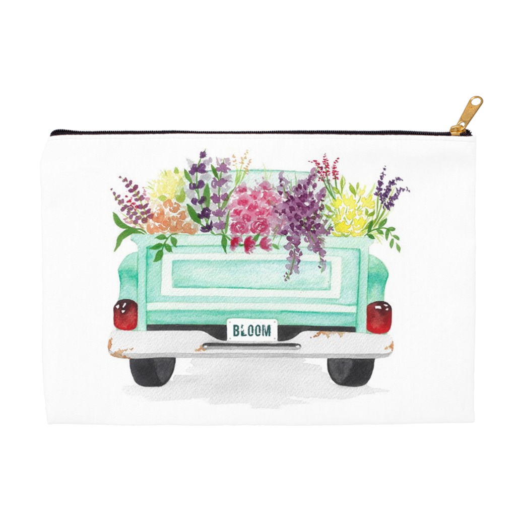 Flower Truck Zippered Pouch