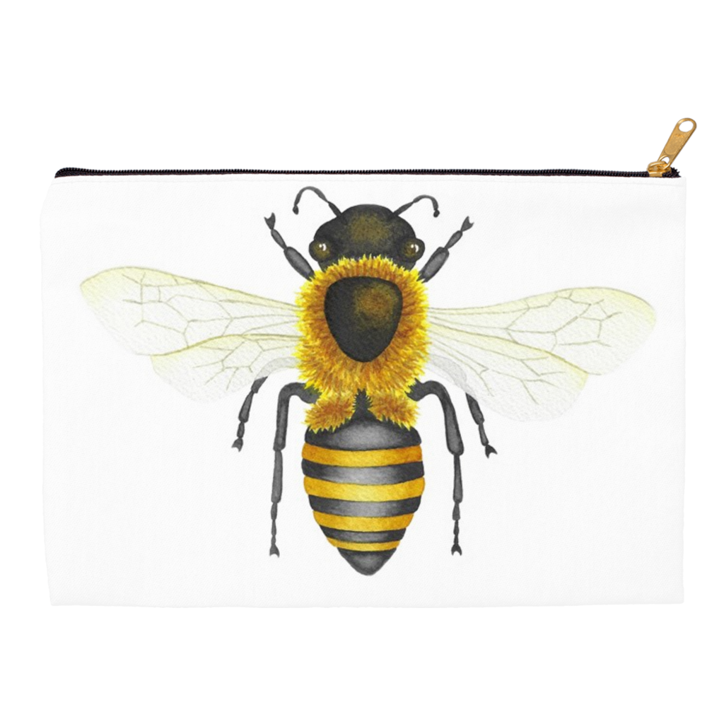 Honey Bee Zippered Pouch