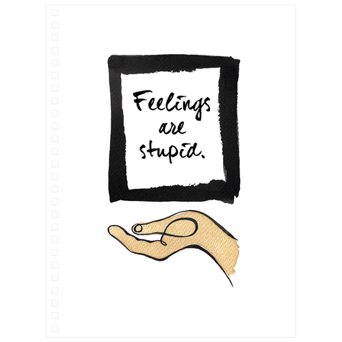 Feelings are Stupid Spiral Notepad