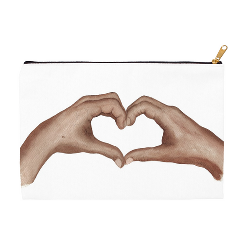 Heart Hands Zippered Pouch