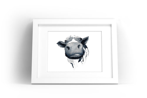Cow Watercolor Print